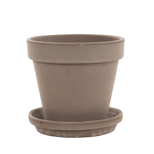 terracotta schotel met pot